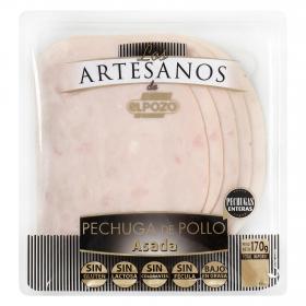 Pechuga de pollo asada loncheada Los Artesanos ElPozo envase 170 g