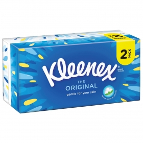 Caja de pañuelos original Kleenex pack de 2 cajas de 72 ud.