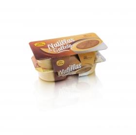 Natillas con galleta Reina pack de 4 unidades de 125 g.