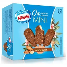 Mini bombón helado sabor vainilla almendrado sin azúcar añadido Nestlé 6 ud.
