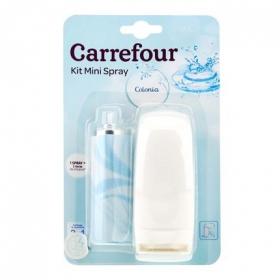 Ambientador mini spray Colonia aparato y recambio Carrefour 1 ud.