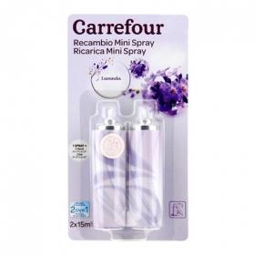 Ambientador mini spray Lavanda recambio Carrefour 2 ud.
