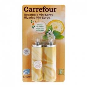 Ambientador mini spray Cítrico recambio Carrefour 2 ud.