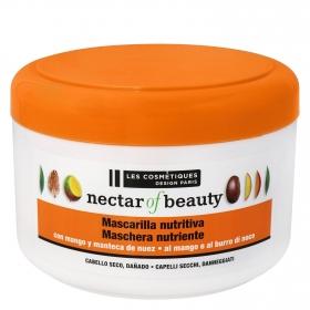 Mascarilla capilar Mango & Nuez para cabello seco Nectar of Nature Les Cosmétiques Nectar of Beauty 400 ml.