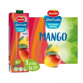 Zumo de mango Juver Exótico sin azúcar añadido brik 1 l.