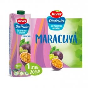 Zumo de maracuyá Juver-Disfruta Exótico sin azúcar añadido brik 1 l.