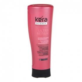 Acondicionador regenerador para cabello dañado Les Cosmétiques -Kera Science 400 ml.