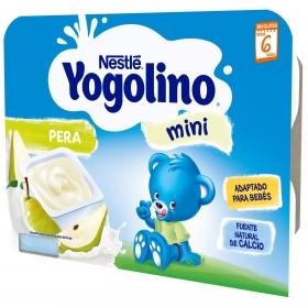Postre lácteo de pera desde 6 meses Nestlé Yogolino sin gluten pack de 6 unidades de 60 g.
