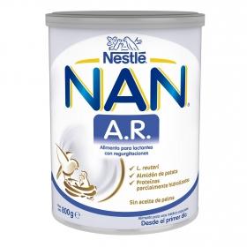 Leche infantil para lactantes con regurgitaciones Nan Expert AR lata 800 g.