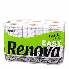 Papel higiénico Take It Easy Renova 12 rollos.