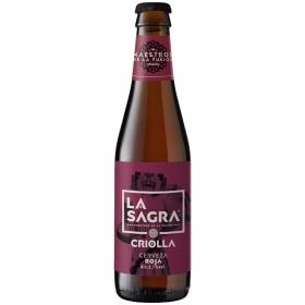 Cerveza artesana La Sagra roja botella 33 cl.