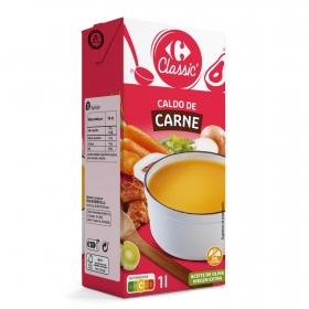 Caldo de carne Carrefour sin gluten 1 l.
