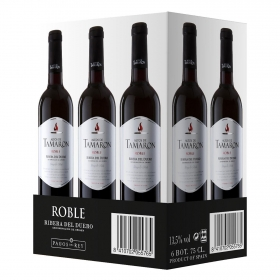 Vino D.O. Ribera del Duero tinto Roble Altos de Tamaron caja de 6x75 cl.