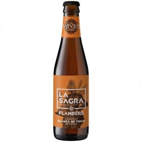 Cerveza artesana La Sagra blanca de trigo botella 33 cl.