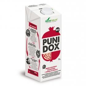 Bebida de granada y grosellas negras ecológica  PuniDox Soria Natural brik 1 l.