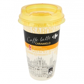 Café latte con caramelo Carrefour sin gluten 250 ml.