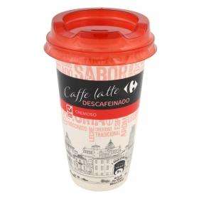 Café latte descafeinado Carrefour sin gluten 250 ml.