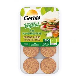 Mini hamburguesa de cebada, queso de cabra y miel ecológica Gerblé Bio pack de 160 g.