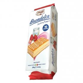 Bizcocho relleno fresa-yogur Buondolce Freddi 250 g.