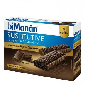 Barritas de chocolate intenso Bimanán 8 ud.