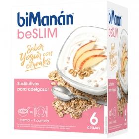 Crema sabor yogur con cereales Bimanán 5 ud.