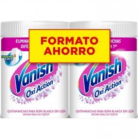 Quitamanchas en polvo ropa blanca poder 5 Vanish-OxiAction 2x900 g.