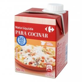 Nata para cocinar líquida ligera Carrefour 500 ml.