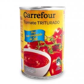 Tomate triturado contenido bajo de sal Carrefour 390 g.
