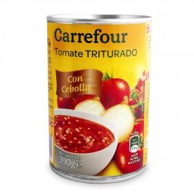 Tomate triturado con cebolla Carrefour 390 g.