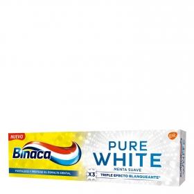 Dentífrico menta suave Pure White Binaca 75 ml.