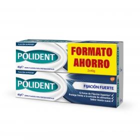 Crema fijadora para prótesis dentales Polident pack de 2 unidades de 40 g.