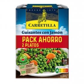 Guisantes con jamón y aceite de oliva Carretilla pack 2 unidades de 300 g.