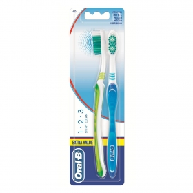 Cepillo dental Shiny Clean Oral-B 2 ud.