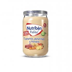 Tarrito de ternera con patatas y zanahorias desde los 6 meses Nutribén Potitos 235 g.