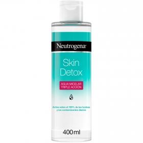 Agua micelar triple acción Skin Detox Neutrogena 400 ml.