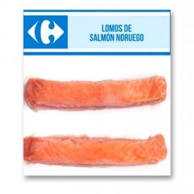Lomo de salmón noruego congelado Carrefour 200 gr