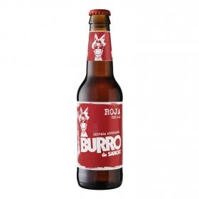 Cerveza artesana Burro de Sancho roja botella 33 cl.