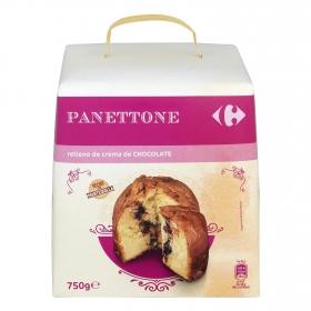 Panettone relleno de chocolate Carrefour 750 g.