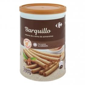 Barquillos rellenos de crema de almendra Carrefour 200 g,
