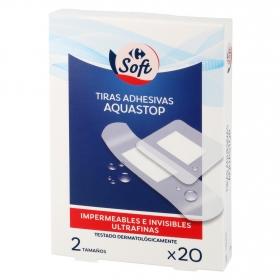 Tiras adhesivas aquastop Carrefour 20 ud.