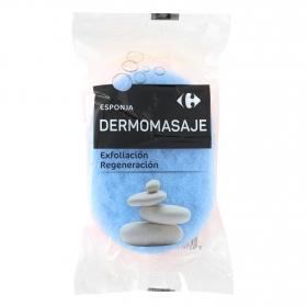 Esponja dermomasaje exfoliación Regeneración Carrefour 1 ud.