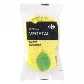 Esponja vegetal suave delicada Carrefour 1 ud.