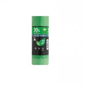 20 Bolsas Basura CARREFOUR Perfumada 30 Litros - Verde