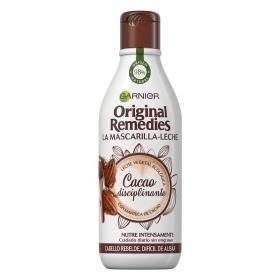 Mascarilla-leche capilar Cacao Disciplinante Original Remedies 250 ml.