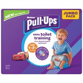 Pañales de aprendizaje niña Huggies Pull-Ups 1-2,5 años (8-17 kg.) 27 ud.