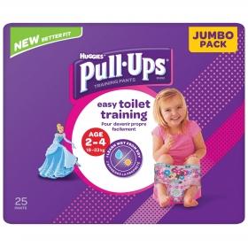 Pañales de aprendizaje niño Huggies Pull-Ups 2-4 años (18-23 kg.) 25 ud.