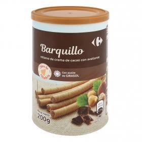 Barquillos rellenos de crema de avellanas Carrefour 200 g.