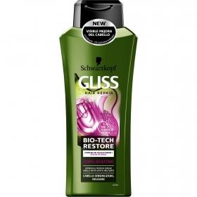 Champú Bio-Tech Restore para cabello delicados Gliss 400 ml.