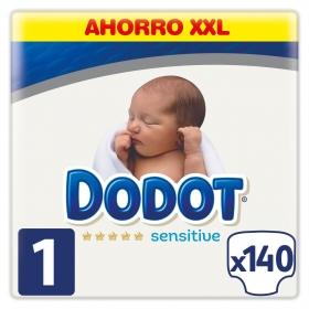 Pañales Dodot Sensitive recién nacido T1 (2kg-5kg.) 140 ud.