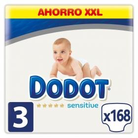 Pañales Dodot Sensitive T3 (6kg-11kg.) 168 ud.